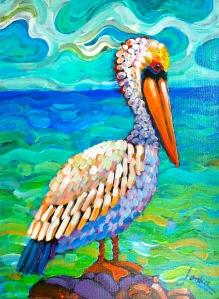 Pelican van Gogh
